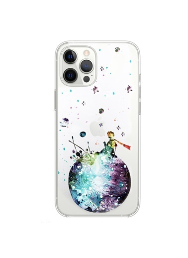 Microsonic iPhone 12 Pro Max Desenli Kılıf Küçük Prens Mavi Mavi